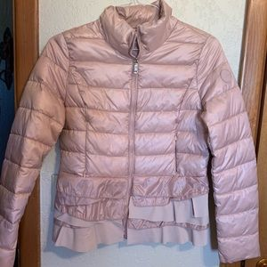 T Tahari Jackets & Coats - T Tahiti blush pink ruffle jacket medium